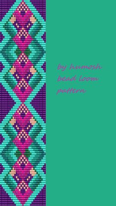 bead loom pattern by Humosh--78 (11 colors)                                                                                                                                                      More