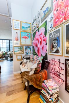 A Maximalist Cincinnati Loft Has Hidden Jewelry Storage a Brilliant Bar Setup and Lots More Stairway Decorating Bar Brilliant Cincinnati hidden Jewelry Loft Lots Maximalist setup Storage
