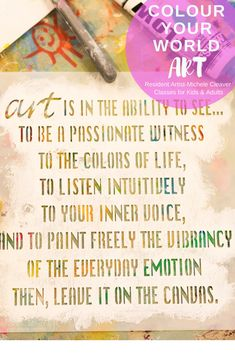 As a painter, you too can be a passionate witness to the colours of life and listen intuitively to your inner voice, how wonderful. Color Of Life, Learn To Paint, Step By Step Instructions, Have Fun, Colours, Learning, World, Painting, Art
