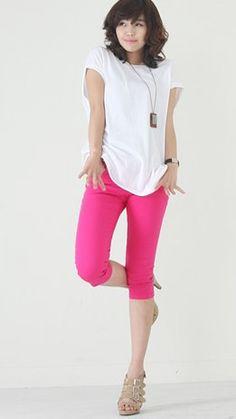 Girls'Favorite Colorful Cotton Slim Pants Rose