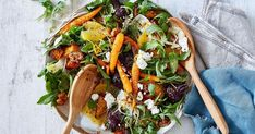 Sweet roasted beetroot meets creamy goats cheese and zesty citrus in this hearty autumn salad. Vegetarian Recipes, Healthy Recipes, Dinner Sides, Roasted Vegetables, Vegetable Pizza, Food Inspiration, Salad Recipes, Side Dishes, Dinner Recipes