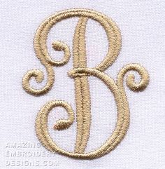 Amazing Embroidery Designs has posted this free embroidery design.  It's the letter B. #embroiderydesigns