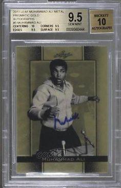 2011 Leaf Metal #5 Muhammad Ali BGS 9.5 Auto Autographed Boxing Card