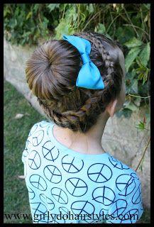Girly Do Hairstyles: By Jenn: Double Braid Halo Braid French Braid Hairstyles, Dance Hairstyles, Workout Hairstyles, Kids Braided Hairstyles, Flower Girl Hairstyles, Little Girl Hairstyles, Pretty Hairstyles, French Braids, Gymnastics Hairstyles