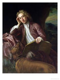 Poet Alexander Pope and his dog bounce, circa 1718 by Jonathan Richardson.