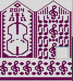 Tricksy Knitter Charts: untitled designed chart by Veera Romppainen Knitted Mittens Pattern, Crochet Gloves, Knit Mittens, Knitting Socks, Knitting Charts, Knitting Stitches, Knitting Patterns, Crochet Cross, Crochet Chart