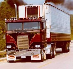 Millions of Semi Trucks Big Rig Trucks, Semi Trucks, Cool Trucks, Freightliner Trucks, Cab Over, Vintage Trucks, Diesel Trucks, Classic Trucks, Trailers