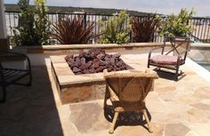 Square Fire Pit, Hearths, Fire Ring, Wood Molding, House Projects, Firewood, Landscape Design, Backyard, Texture