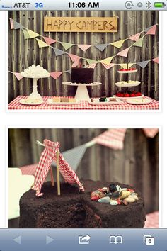I want a camping themed party!