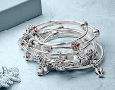Be playful with the PANDORA bangle bracelets. #PANDORAbracelet #ChristmasCollection