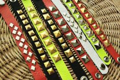 DIY Leather Stud Bracelets