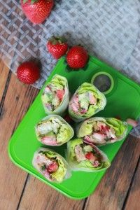 Coconut Shrimp Spring Rolls with Strawberry-Avocado Salsa and Creamy Almond Butter Dipping Sauce | Little Broken