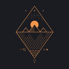 Graphisches Design, Graphic Design, Osiris Tattoo, Tattoo Grafik, Geometric Nature, Simple Geometric Designs, Triangle Art, Egyptian Art, Egyptian Mythology