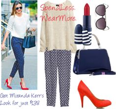 2013 Celebrity Fashion At A Steal – SpendLess WearMore! Copy Miranda Kerr 's outfit at a fraction of the price.