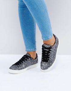 New Look | New Look - Baskets pailletées à lacets