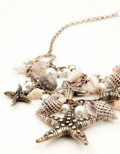 Bershka Mexico - Marine beads necklace