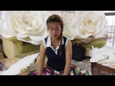 How to make paper flower by Madammouth ดอกไม้กระดาษ - YouTube