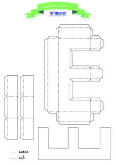 89fdab3639f773975a45481a1bf26327  D Letter Template Pdf on cut out, printable box,
