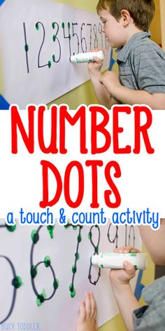 Easy Counting Activity for Preschoolers: a quick and easy math activity for preschoolers