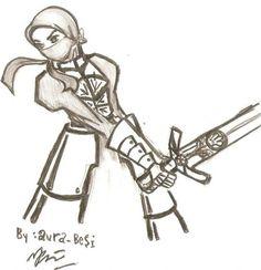 Muslimah Warrior With Sword