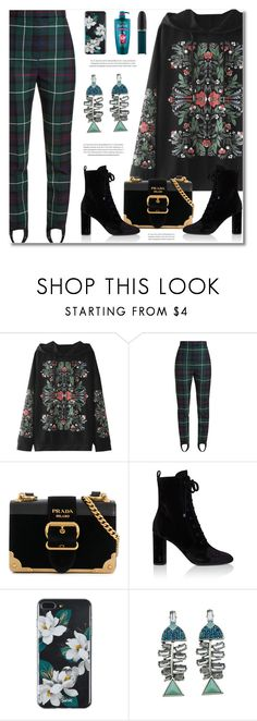 """Teal Blue"" by defivirda ❤ liked on Polyvore featuring Burberry, Prada, Yves Saint Laurent, L'Oréal Paris and John Lewis"