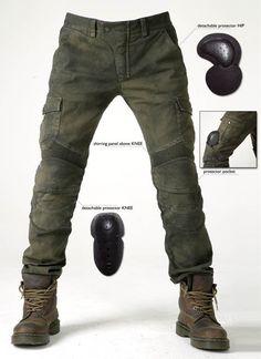 uglyBROS - Motorpool Olive - men's motorcycle jeans