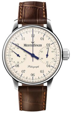 MeisterSinger Watch Paleograph #bezel-fixed #bracelet-strap-leather #brand-meistersinger #case-material-steel #case-width-43mm #chronograph-yes #delivery-timescale-call-us #dial-colour-cream #gender-mens #movement-manual #official-stockist-for-meistersinger-watches #packaging-meistersinger-watch-packaging #subcat-paleograph #supplier-model-no-sc103 #warranty-meistersinger-official-2-year-guarantee #water-resistant-50m
