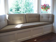 Bay Window Bench Seat diy: how to build a built-in window seat with storage - via alisa
