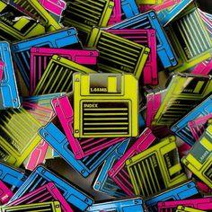 'Floppy Disks' Pin