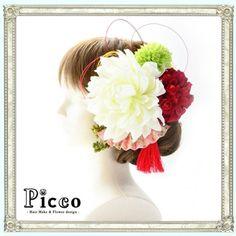 アートフラワーで作る♡『Picco』のお花飾りが可愛すぎ*にて紹介している画像