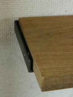 アイアンブラケット シンプル棚受け 見せるブラケット アイアン。≪アイアンブラケット≫【棚受け金具 flat type/1個単品】