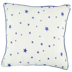 Theo star cushion case - electric blue and white  Louis Louise