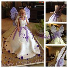 My Daughter S Barbie Fairy Princess Birthday Cake She