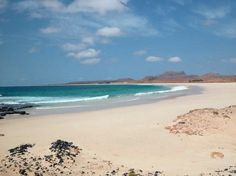 Beautiful Boa Vista beach in Cape Verdi. There is literally no tourism there, or hotels or roads...