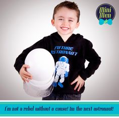Born to be an Astronaut top from Mini Men UK