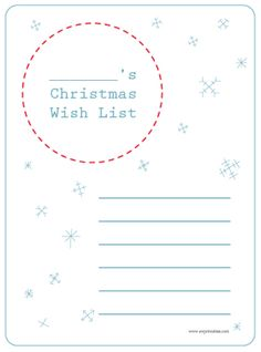 printable wish list