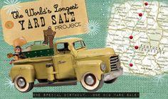 we reeeeaaaally want to junk along the world's longest yard sale! one day...