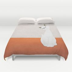 cat doll Duvet Cover by SEVENTRAPS | Society6