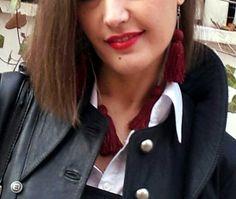 outfit de isabella con chaqueta de cuero de la colección instinto de http://isabella.es y pendientes exclusivos de Capricho´s Isabella