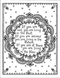 ☮ American Hippie Art Coloring Page ☮  Past Future Now
