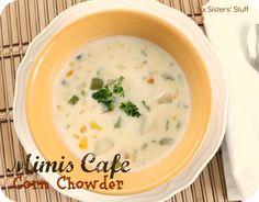 Mimi's Cafe Corn Chowder Copycat Recipe on SixSistersStuff.com