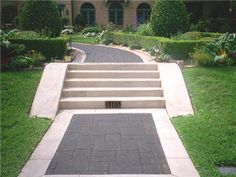 like this pattern and color for driveway and walkway to house & backyard path