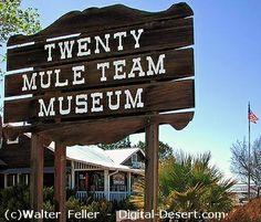 Twenty Mule Team Museum  - Boron, California.