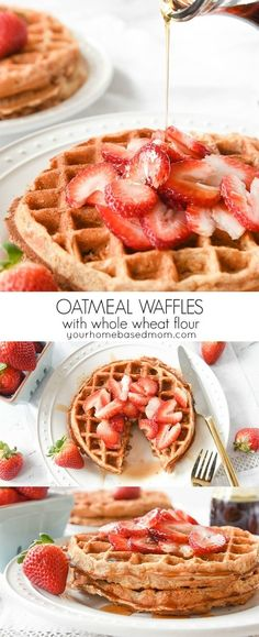 Oatmeal Waffles made with whole wheat flour are a great way to start the day off with a delicious and healthy breakfast.