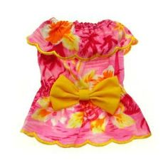 Beach Girl Bow Dog Tank by Puppe Love - Pink