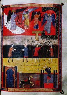 Harvest, Facundus Beatus Codex, Beatus of Liébana, Spain