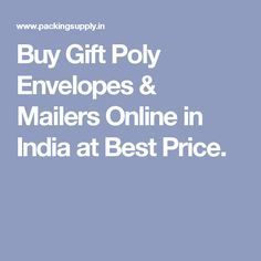 Buy Gift Poly Envelopes & Mailers Online in India at Best Price. Gift Envelope, Pouches, Envelopes, India, Gifts, Stuff To Buy, Goa India, Presents, Favors