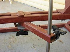 Wood Lathe The clamp on the tool rest mount allows for angle and bed position on the one adjustment.