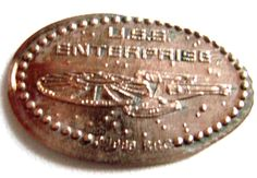 Elongated Pressed Penny - STAR TREK - U.S.S ENTREPRISE - 1988 BBC - RETIRED