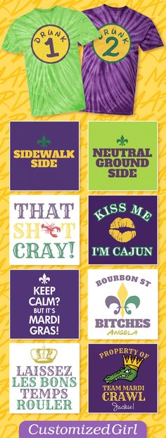 Custom Mardi Gras Shirts